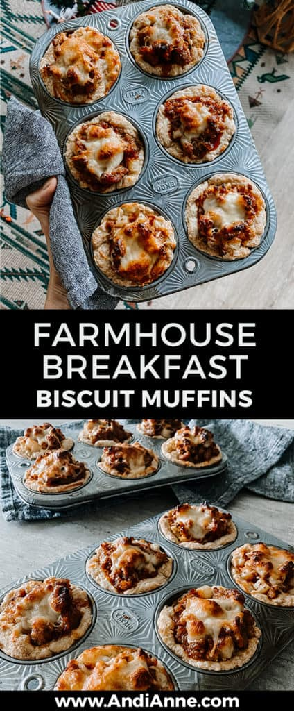 Here is an incredibly delicious and amazing breakfast sausage and egg biscuit muffins recipe that you will make again and again!  It's the perfect brunch or weekend recipe.