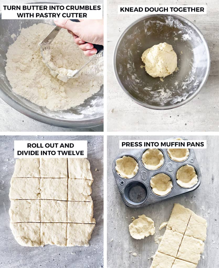 Instructions to make the breakfast sausage muffins