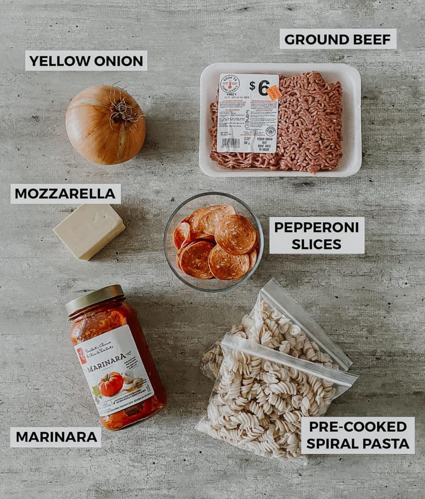 pizza casserole ingredients