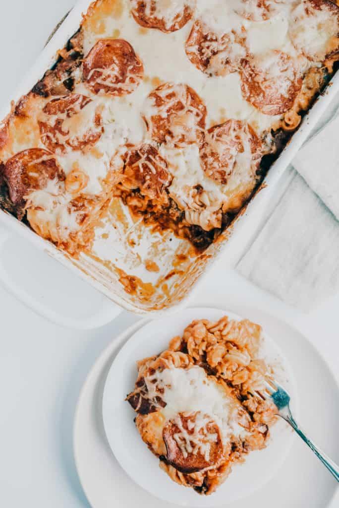 pizza casserole detail