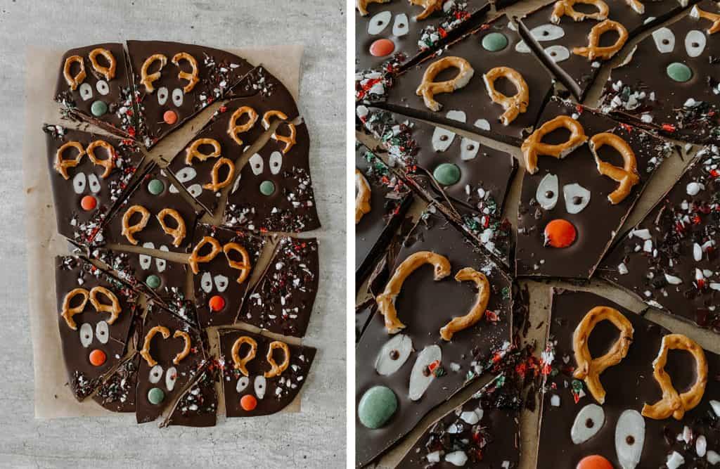 Reindeer Chocolate Bark Recipe Detail