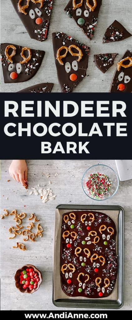 reindeer chocolate bark