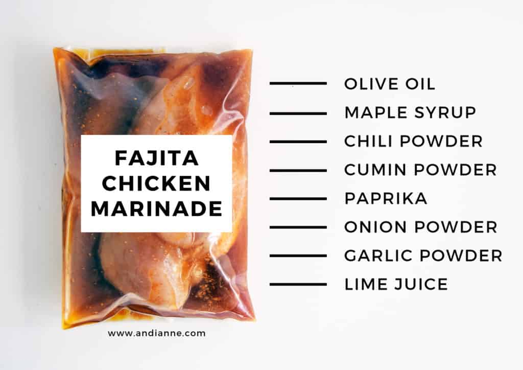 fajita chicken marinade recipe in a plastic bag