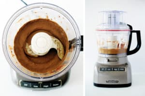 chocolate avocado mousse in a food processor