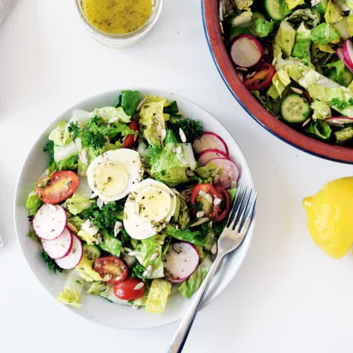 Garden Salad with Herb Dressing