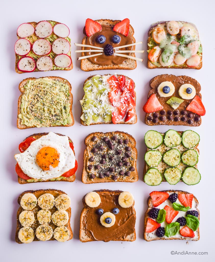 12 Healthy Breakfast Toast Ideas For Kids and Moms