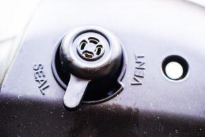 pressure valve on an instant pot