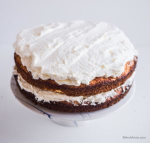 whipping cream on top of cake