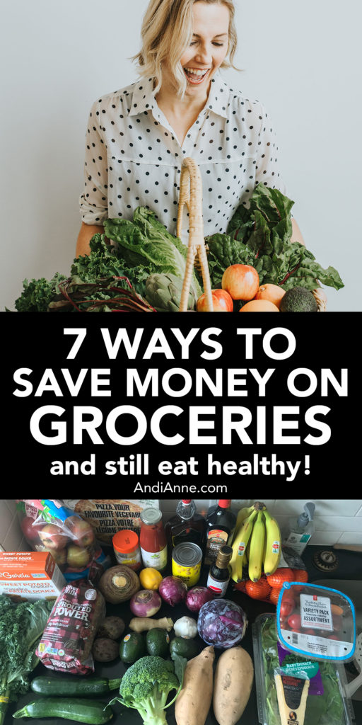 7 ways to save money on groceries. Once you know that you have to put on your detective hat in the grocery store, you can start to look for the best healthy bargains. Here are our favorite ways that I cut down on that weekly grocery budget.