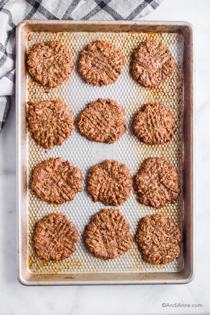 coconut cinnamon ginger cookies on a baking sheet