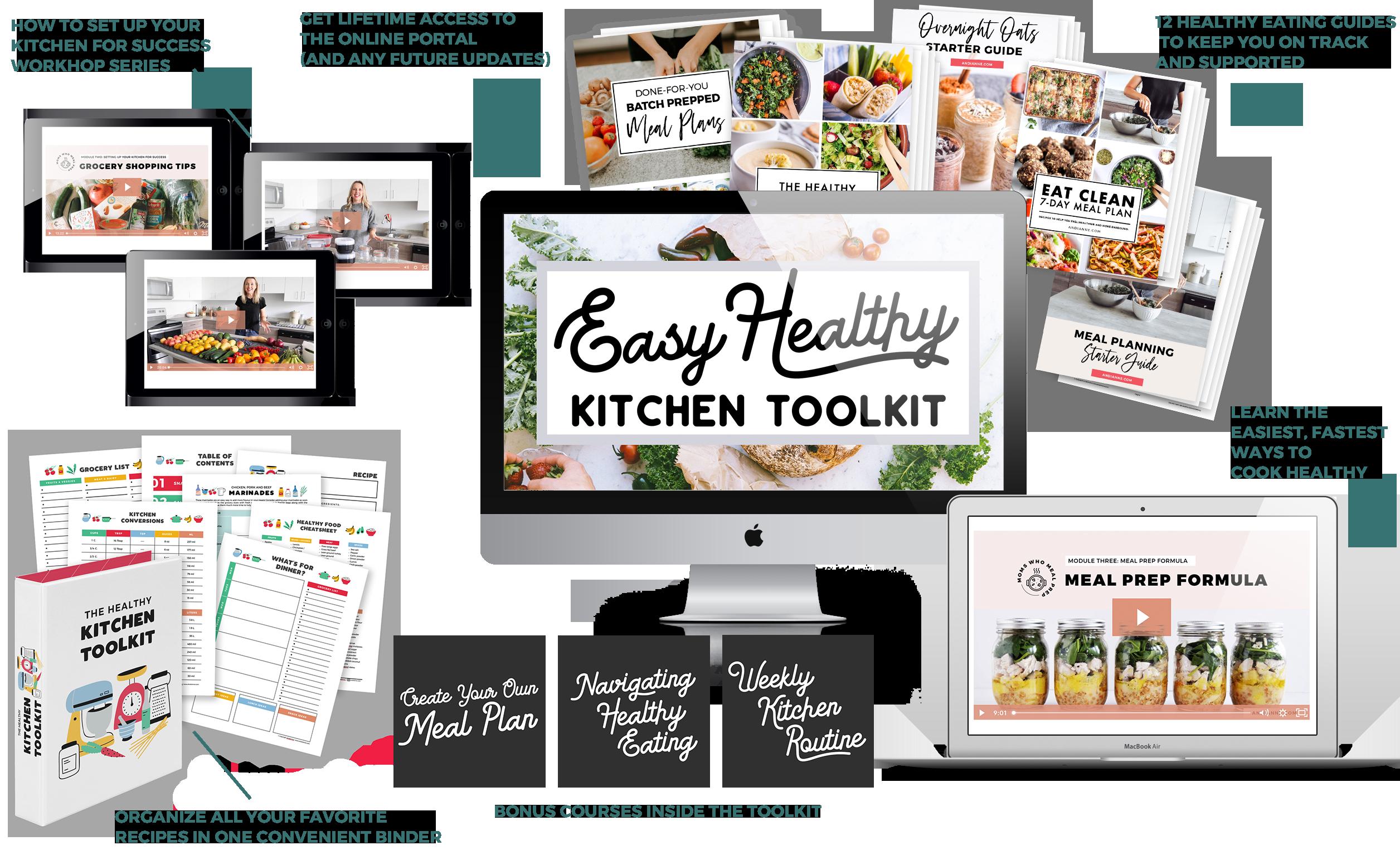 Photo of easy healthy kitchen toolkit
